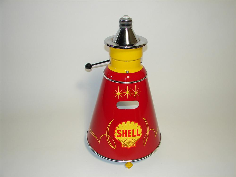 Exceptional 1940s restored Shell Oil service department tire/wheel balancer. - Front 3/4 - 101751