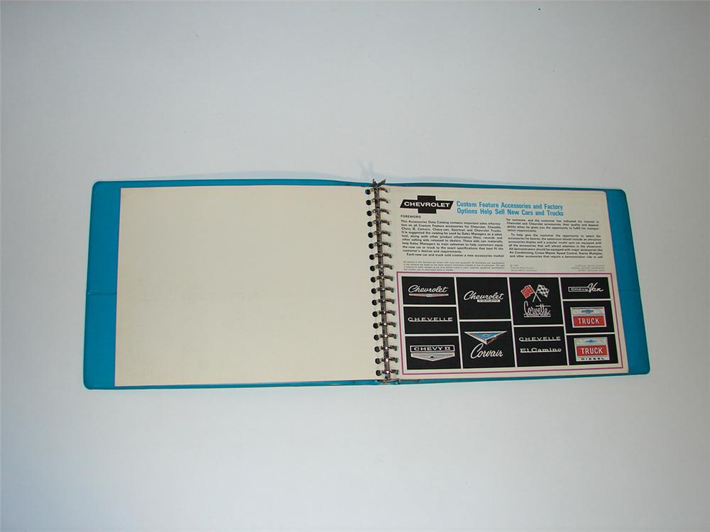 Hard to find 1967 Chevrolet Custom Accessories and Factory Options showroom sales dealer book. - Front 3/4 - 101840