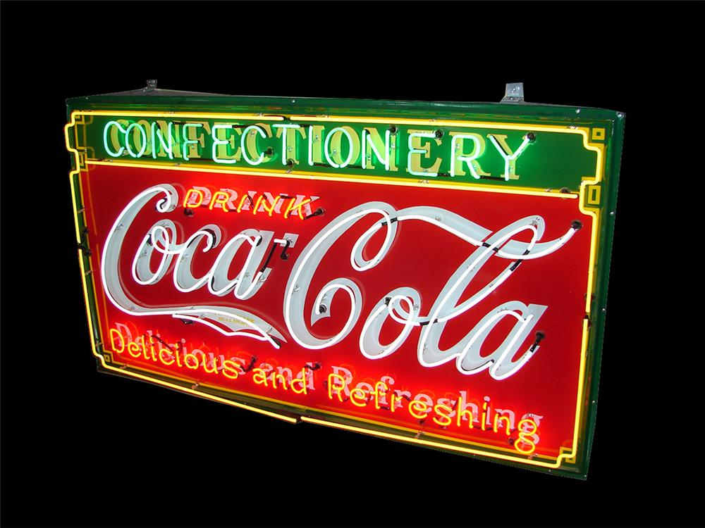 Stellar 1930s Drink Coca-Cola Delicious and Refreshing neon sign. - Front 3/4 - 101878
