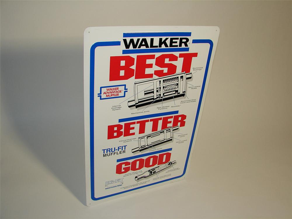Walker Muffler Best-Better-Good tin painted service garage sign. - Front 3/4 - 101914