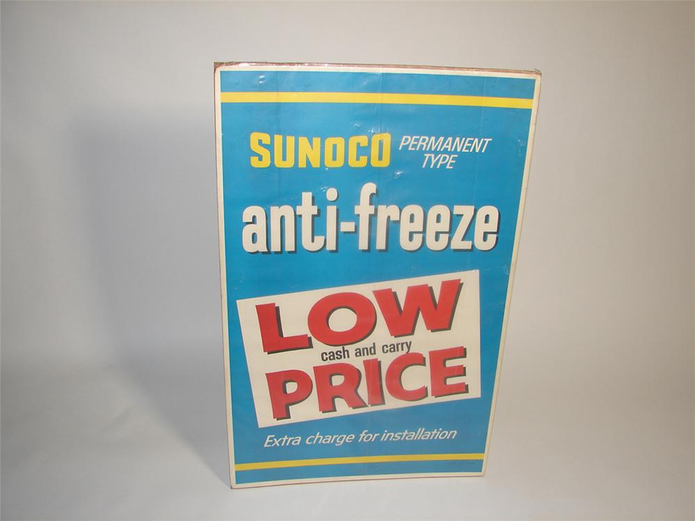 Late 1950s-early 60s Sunoco Anti-Freeze service station poster. - Front 3/4 - 101921