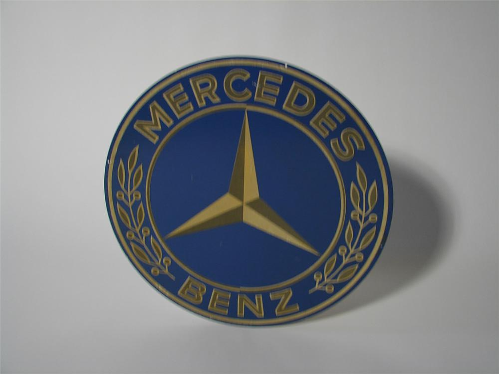 Rare 1955 Mercedes Benz tin painted dealership sign. - Front 3/4 - 102167