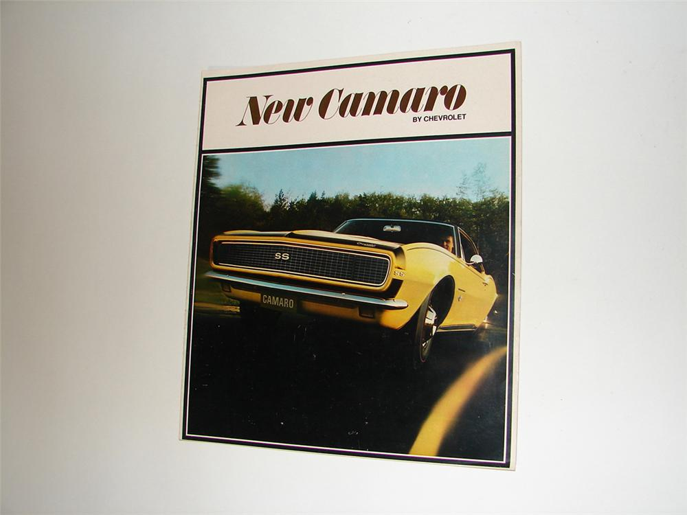 "N.O.S. 1968 ""New Camaro"" 20 page over-sized color sales brochure. - Front 3/4 - 102183"
