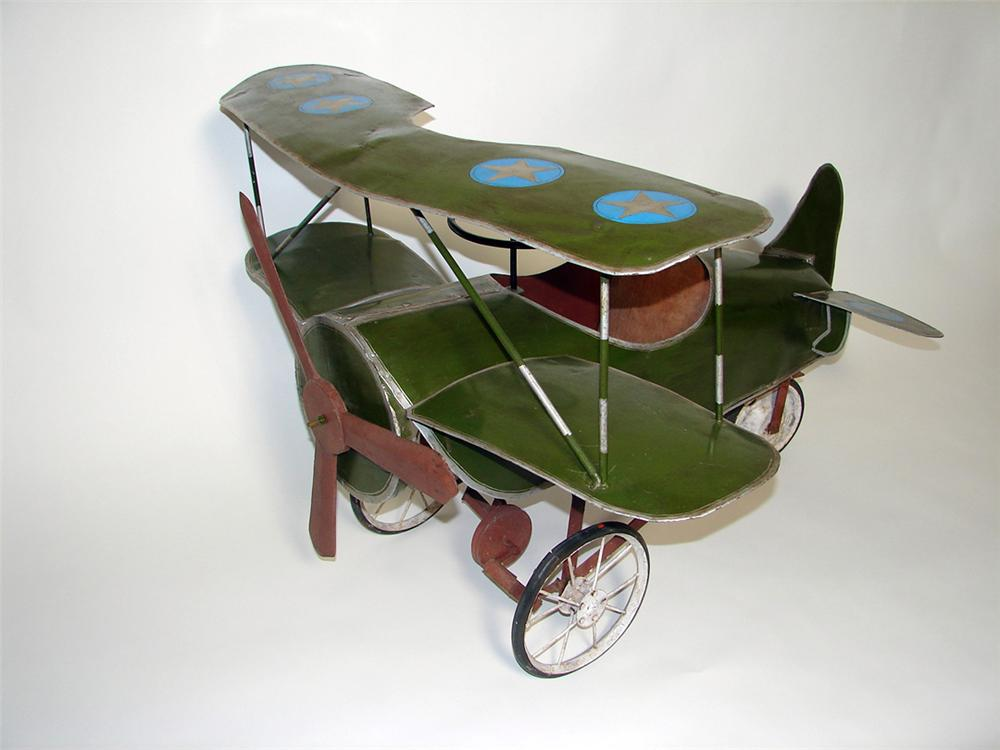 1920s-30s Childs pedal car airplane. - Front 3/4 - 102244
