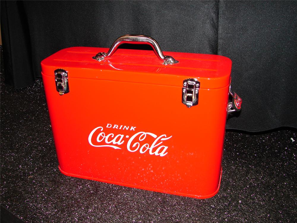 Rare late 1940s restored Coca-Cola Airline cooler. - Front 3/4 - 105466