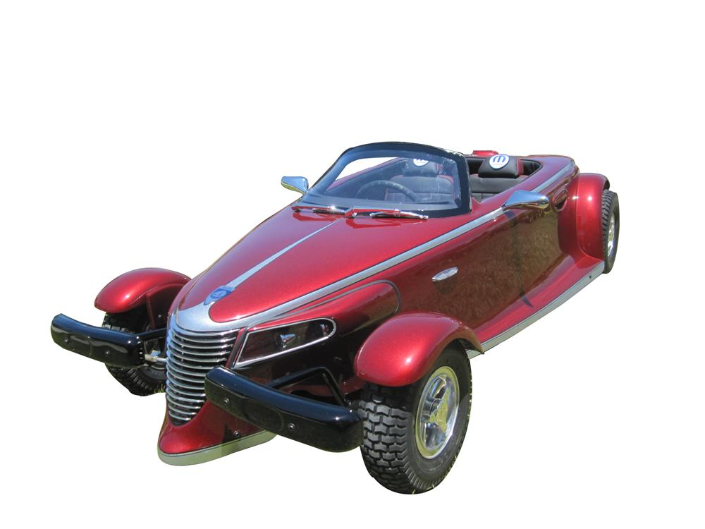 Fully restored Plymouth Prowler Go-Kart restored beyond original with many additional amenities. - Front 3/4 - 108289