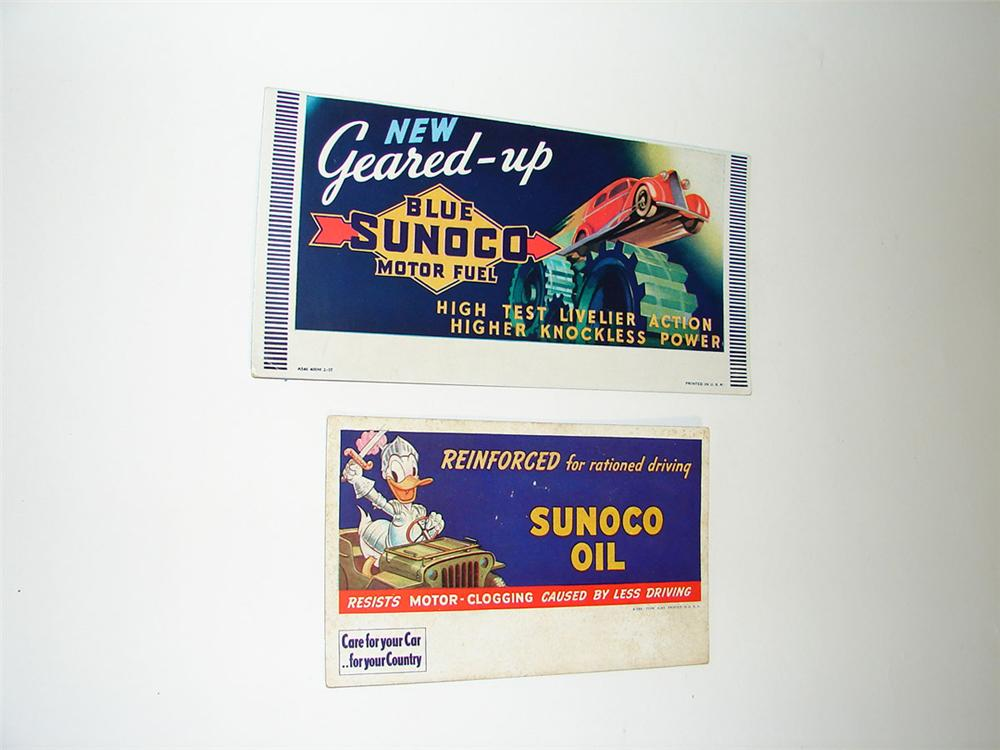 Lot of two vintage Sunoco Motor Oil service station ink blotters from 1937 and 1943. - Front 3/4 - 108369