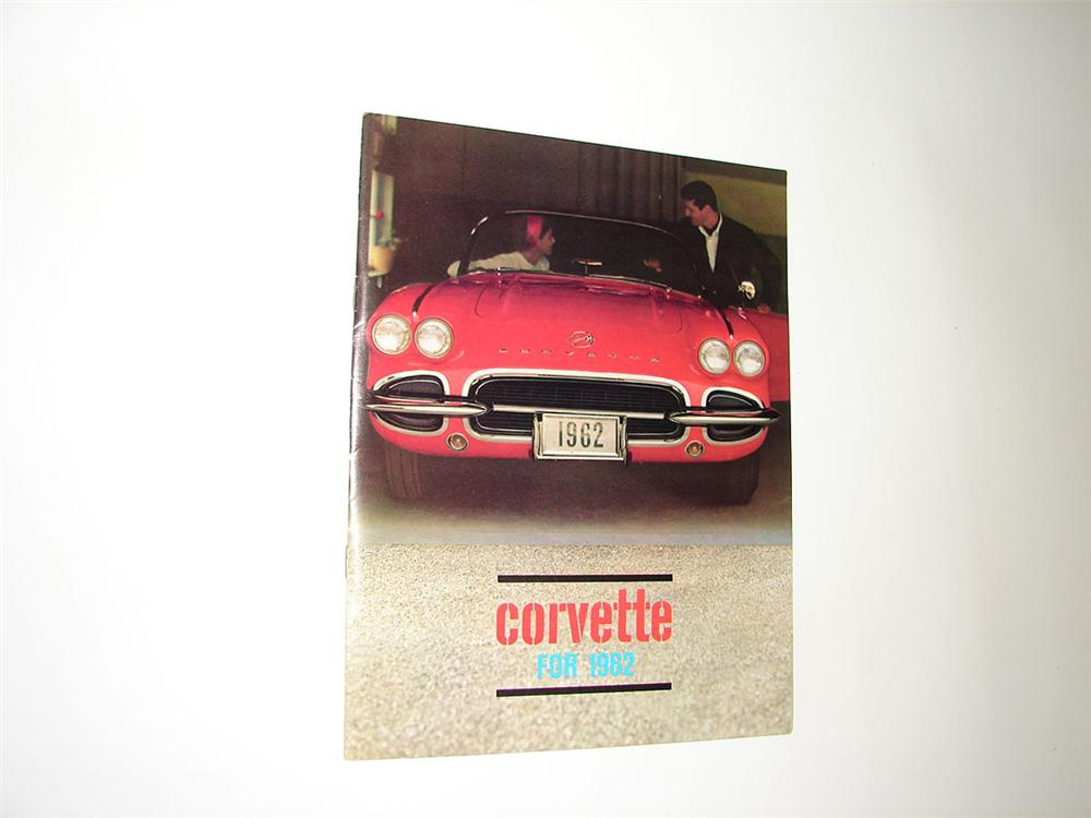 Amazing N.O.S. 1962 Corvette eight page full color showroom sales brochure. Never used!!! - Front 3/4 - 108371
