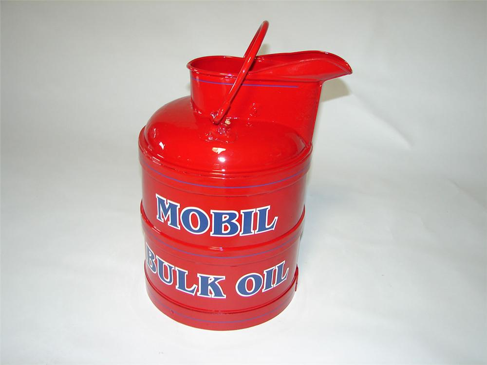 Restored 1920s-30s Mobil Oil service station bulk oil can. - Front 3/4 - 108399