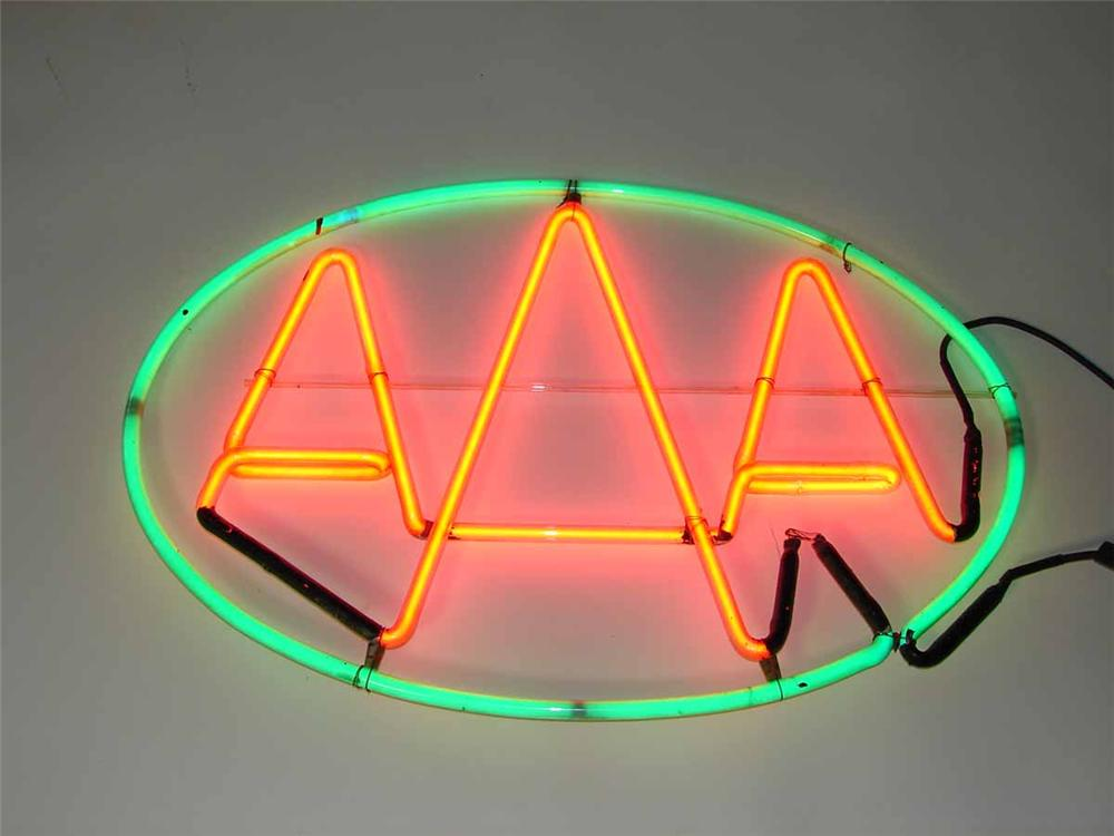 1930s Triple A Auto Service single-sided garage/service station neon sign. - Front 3/4 - 108504