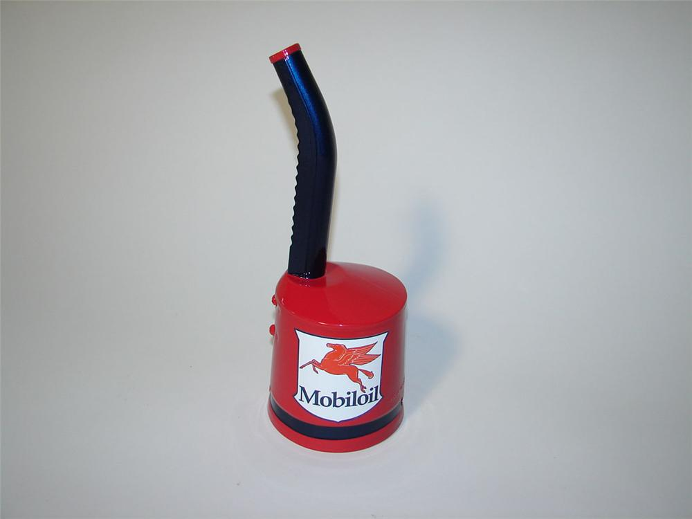Choice 1940s-50s Mobil Oil restored service station funnel with adjustable spout. - Front 3/4 - 108554