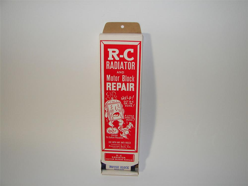 Choice N.O.S. 1930s-40s RC Radiator and Motor Block Repair service garage cardboard display. - Front 3/4 - 108569
