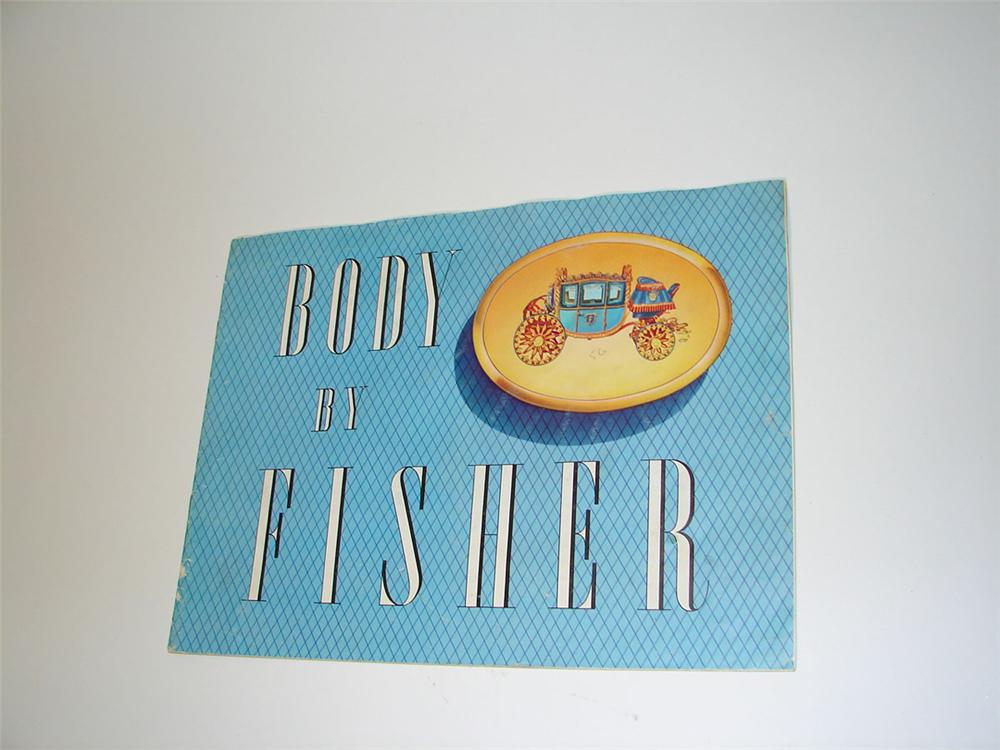 Awesome 1956 Body by Fisher sixteen page color sales brochure. - Front 3/4 - 108605