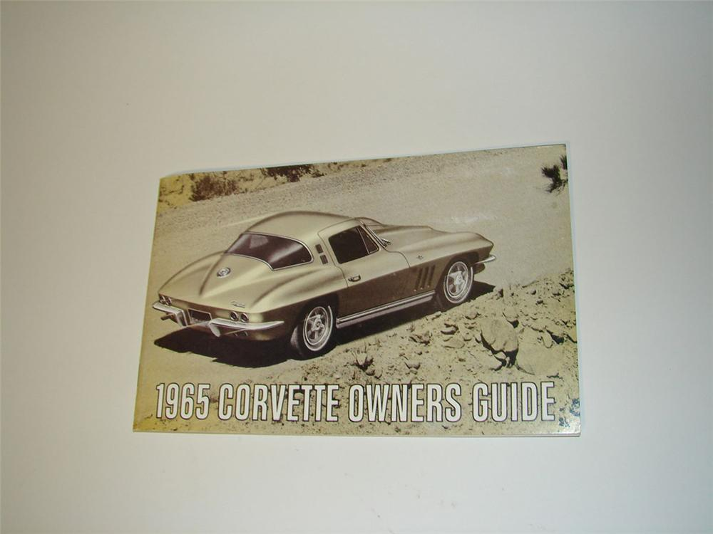 Remarkable 1965 Corvette Owners Guide 56 page booklet. Great for display or reference. - Front 3/4 - 108606