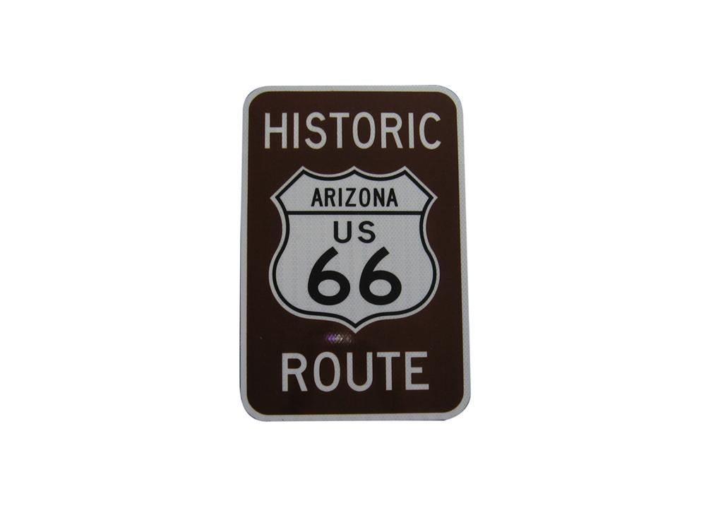 Newer Arizona Historic Route 66 highway sign. - Front 3/4 - 108638