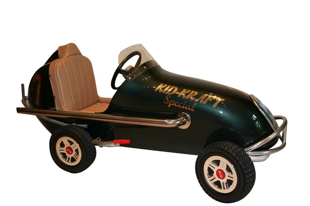 "Custom made ""Kid-Kraft Special"" racer pedal car. - Front 3/4 - 108674"