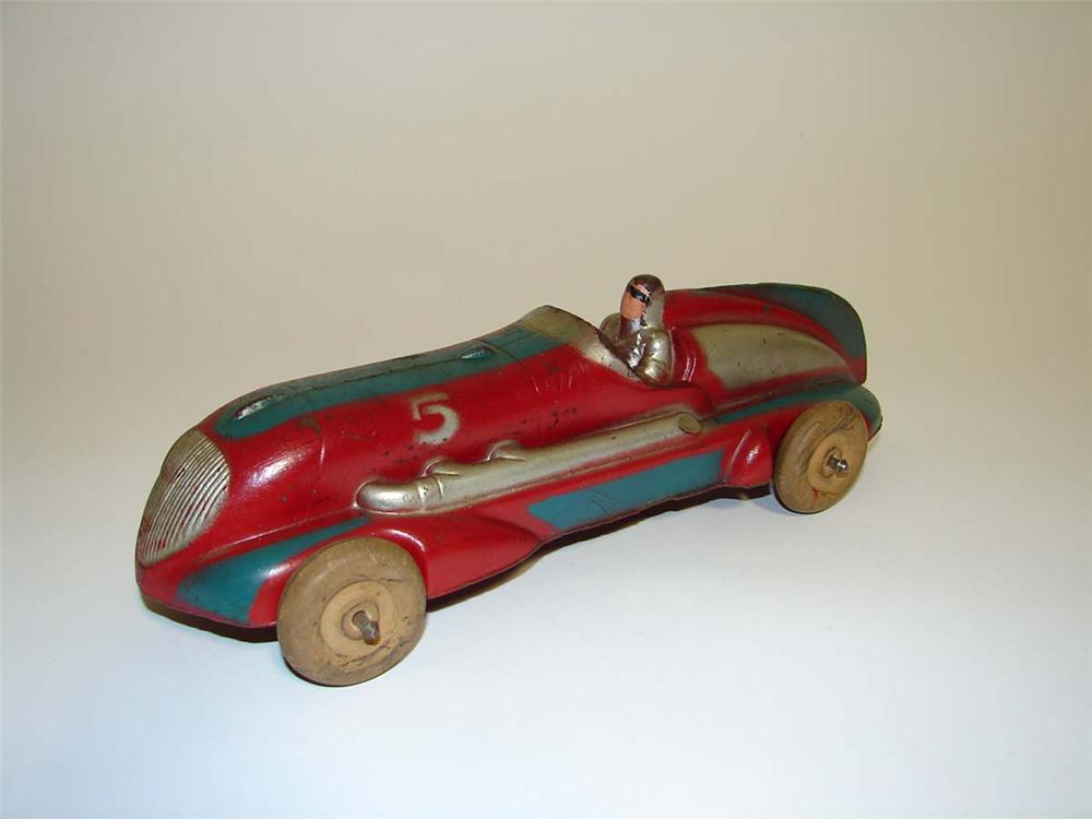 """Wonderful 1940s Arcor """"Safe Play"""" Toys grand prix racer. - Front 3/4 - 112972"""