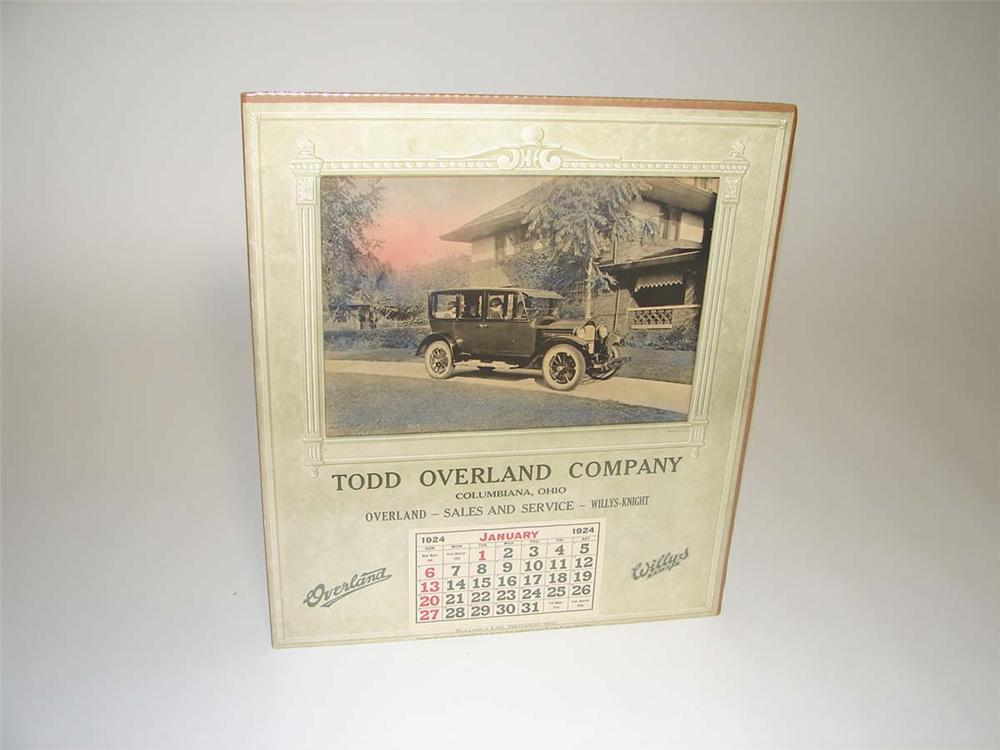 Museum quality N.O.S. 1924 Willys-Overland automobile dealership calendar. - Front 3/4 - 113141