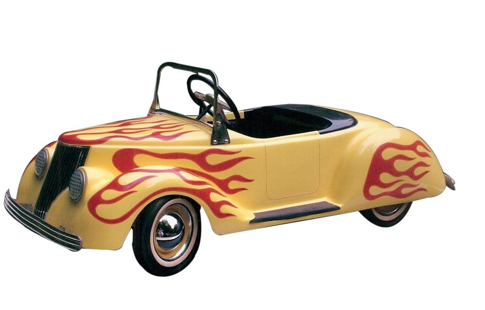 Custom created 1937 Ford Hot Rod Convertible. Display use only with working lights, upholstered interior and more! - Front 3/4 - 113257