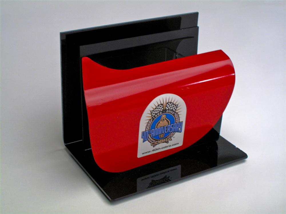 Very cool Shelby 40th anniversary (2002) business card holder featuring a 1:4 scale Cobra door. - Front 3/4 - 113263