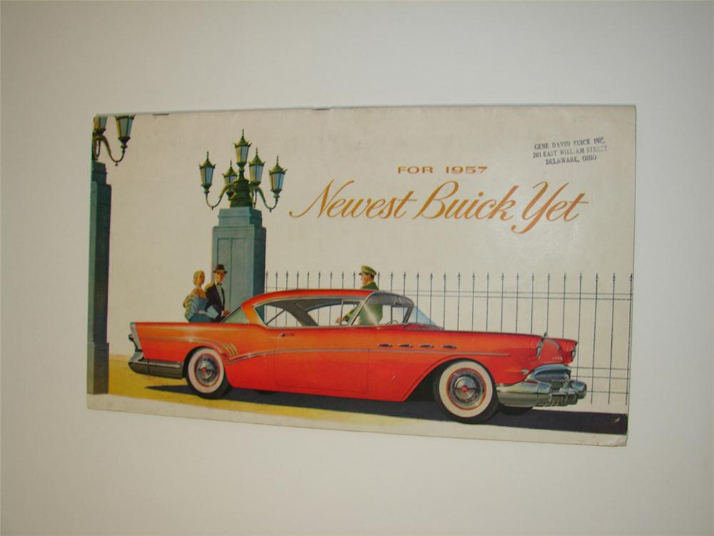 N.O.S. 1957 Buick 32 page color sales brochure. - Front 3/4 - 113292