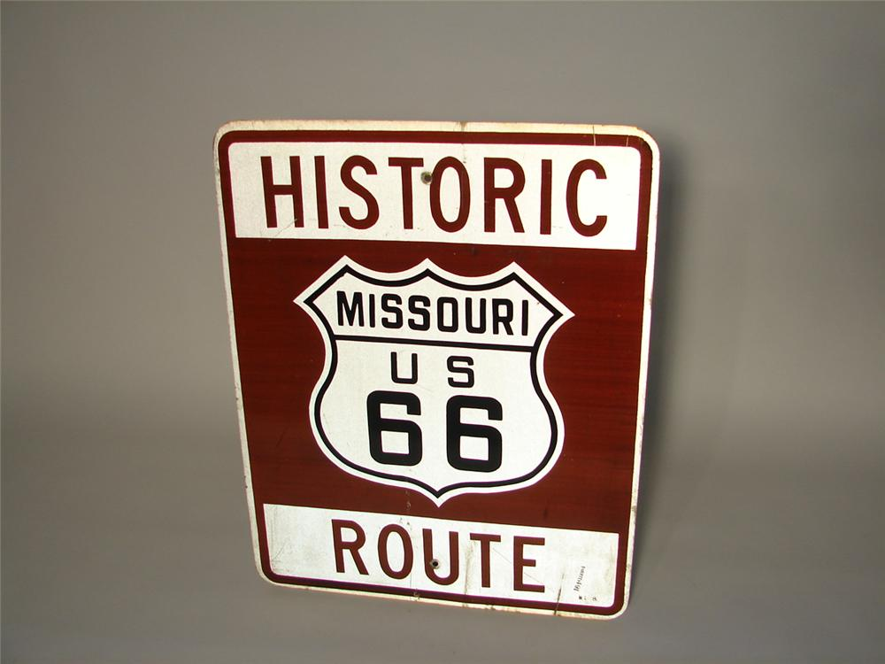 Noteworthy Historic Missouri Route 66 used road sign. - Front 3/4 - 116561