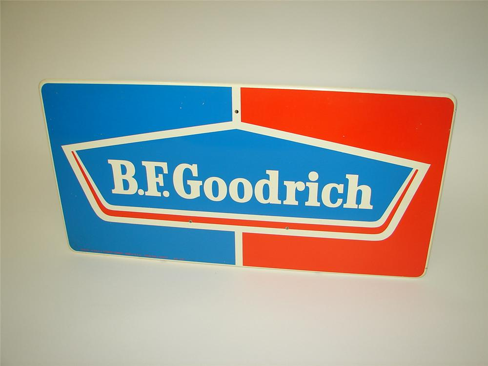 N.O.S. 1960s BF Goodrich horizontal tin garage sign. - Front 3/4 - 116657