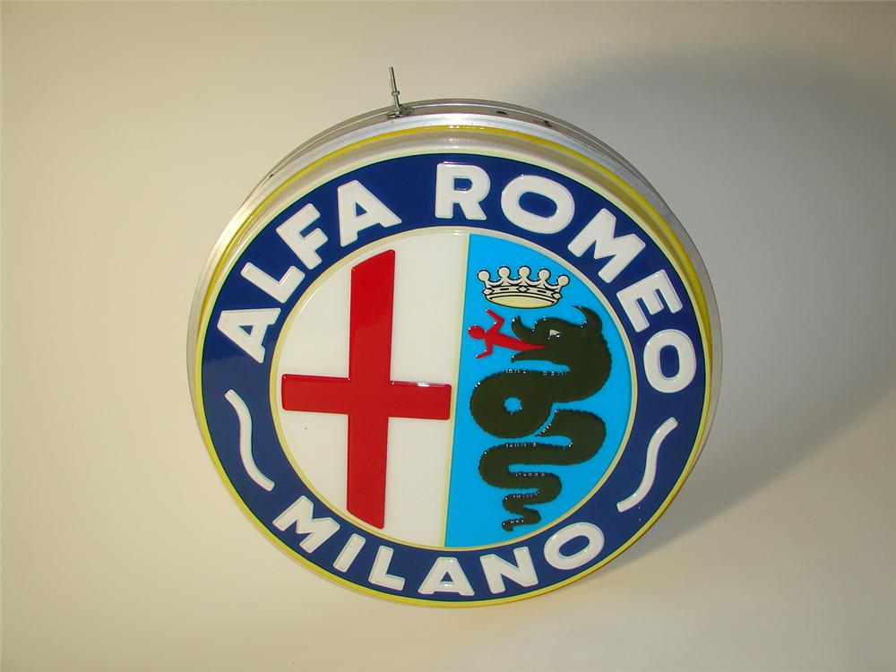 Superb 1960s Alfa Romeo double-sided light-up dealership sign. Very clean! - Front 3/4 - 116735