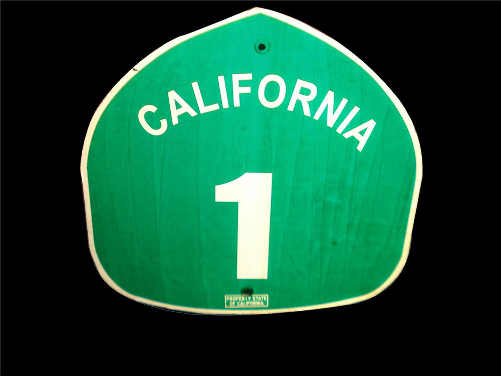 Fun vintage California State Hwy #1 road sign. - Front 3/4 - 116830