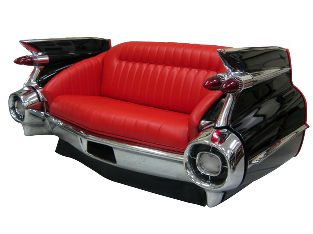 Phenomenal concours quality restoration of an authentic 1959 Cadillac rear end cleverly converted into a couch. - Front 3/4 - 116841