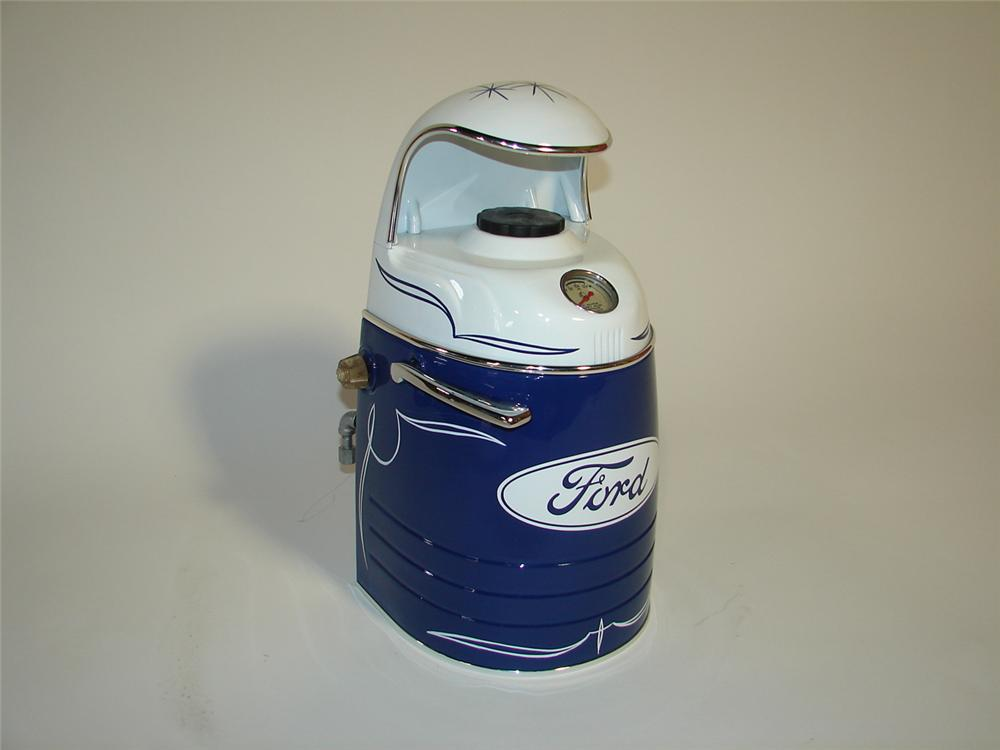 Killer 1940s-50s Ford Auto-Lite Spark Plugs restored counter top cleaner/servicer. - Front 3/4 - 116863