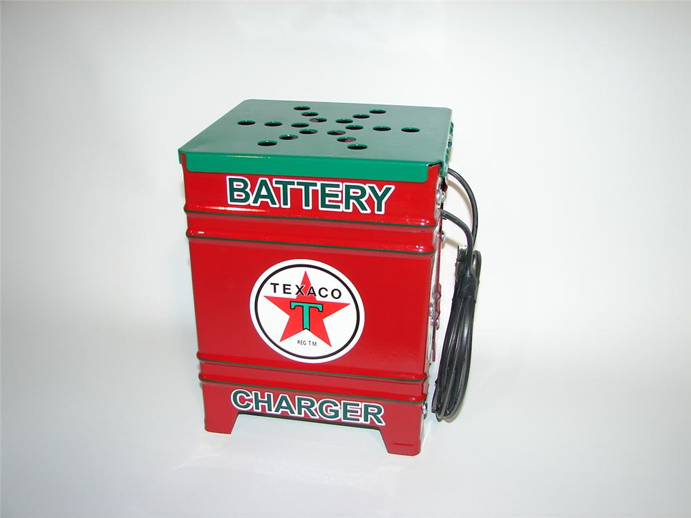 Neat 1930s Westinghouse restored Texaco Oil service department small battery charger. - Front 3/4 - 116907