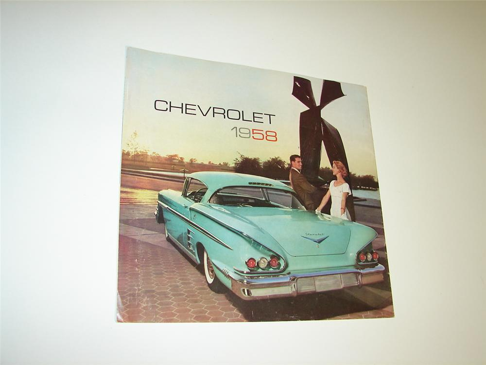 Fabulous Chevrolet for 1958 sixteen page over-sized color sales brochure. - Front 3/4 - 116926