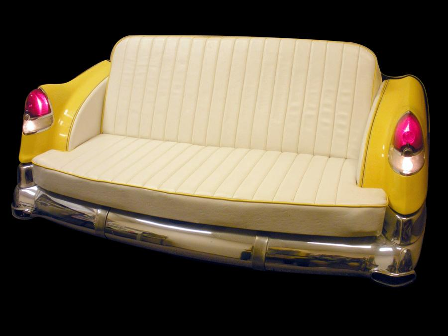 Beautiful 1951 Cadillac couch made from an original rear end. - Front 3/4 - 116976