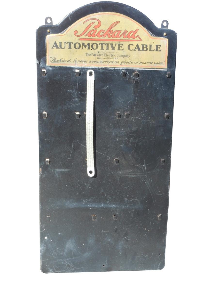 Circa 1920s-30s Packard Cables point-of purchase tin display. - Front 3/4 - 116993
