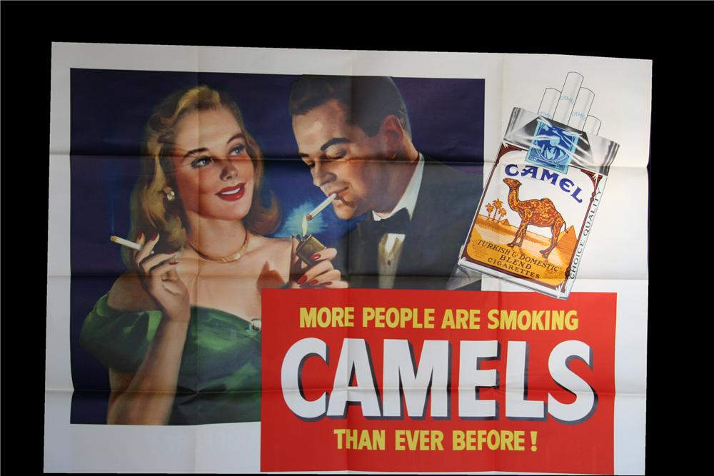 Wonderful N.O.S. 1948 Camel Cigarettes advertisement poster of a sophisticated lady and gent. - Front 3/4 - 117047