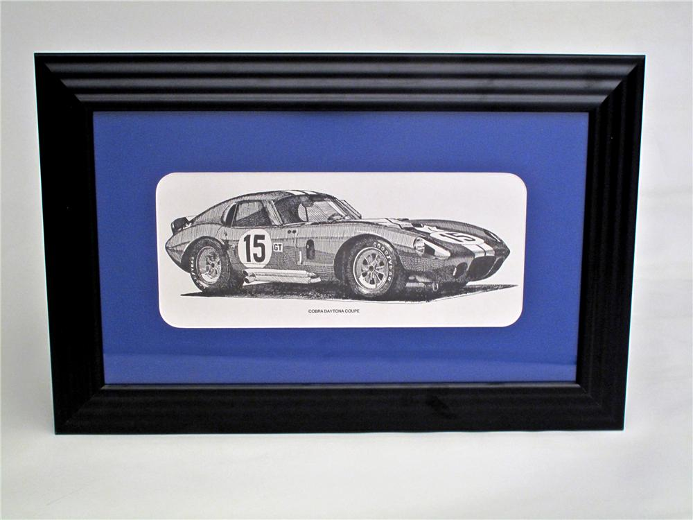 Choice Cobra Daytona Coup black and white print presents matted and framed. - Front 3/4 - 117119