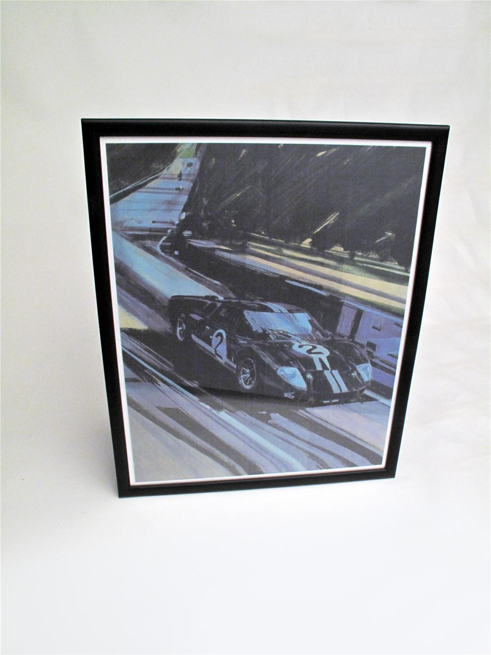Beautiful GT 40 Lemans poster (one of only four copies made) painting by famed automotive artist George Bartell. - Front 3/4 - 117122