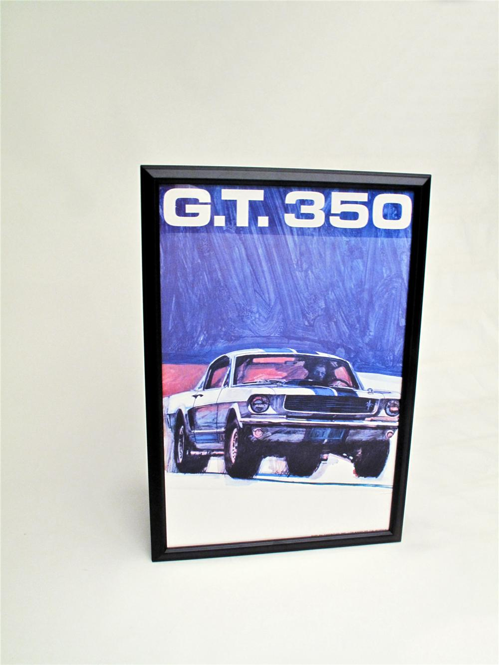 Highly desirable Mustang GT 350 original poster by noted automotive artist George Bartell. - Front 3/4 - 117123