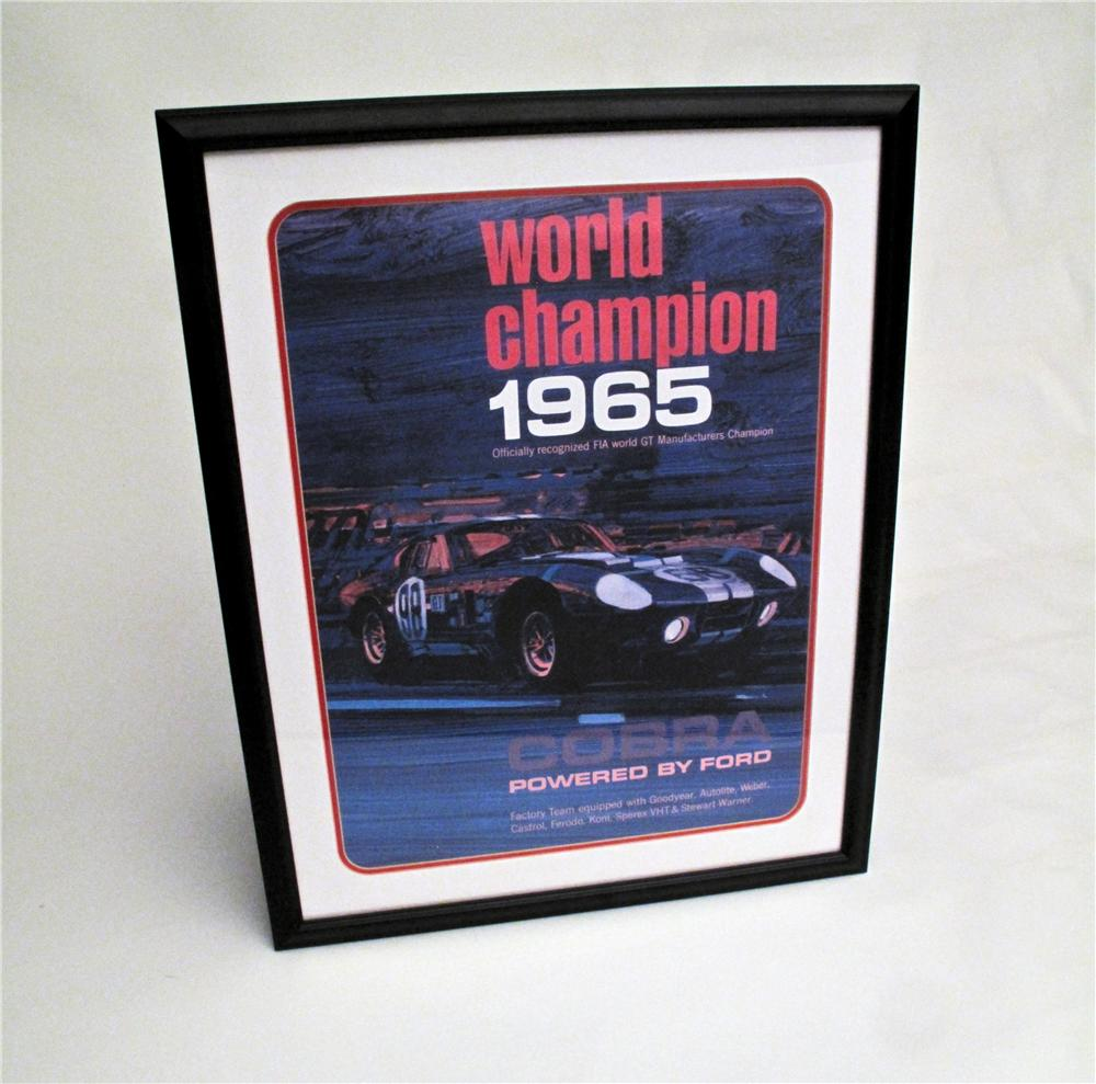 5177.2Desirable factory reprint of the original Cobra 1965 World Champion Official poster. - Front 3/4 - 117128