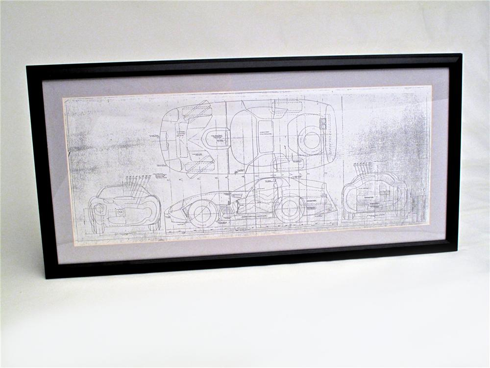 Factory copy of the original blue print for the Shelby Cobra Daytona Coupe. - Front 3/4 - 117132