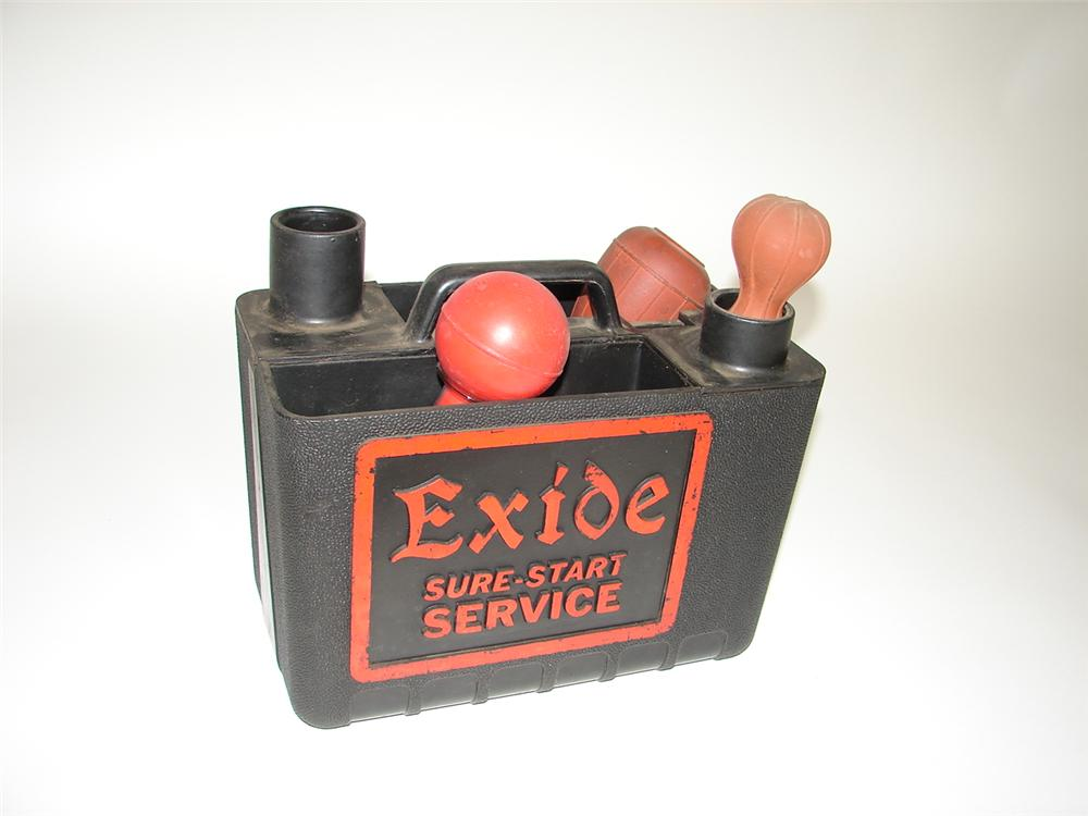 Nifty 1940s Exide Batteries service station portable battery servicer. - Front 3/4 - 117877