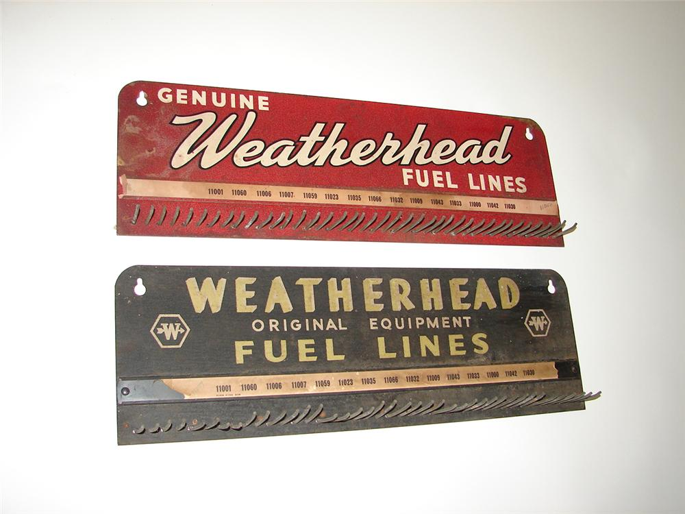 Lot of two 1930s-40s Weatherhead Fuel Lines automotive service garage display racks. - Front 3/4 - 117929
