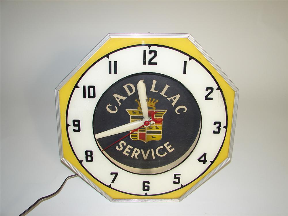 Extremely rare 1930s-40s Cadillac Service showroom dealership neon clock. - Front 3/4 - 125381