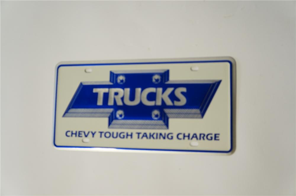 "N.O.S. 1984 Chevy Trucks ""Chevy Tough Taking Charge"" dealership showroom sign - Front 3/4 - 125438"