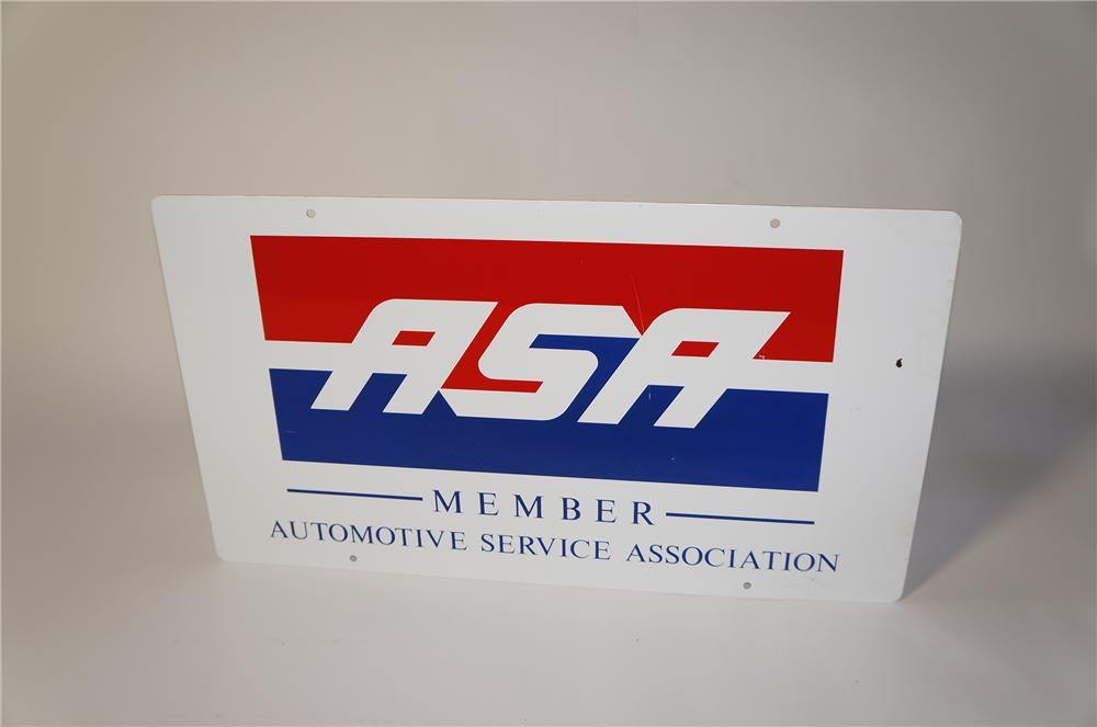 Automotive Service Association double-sided tin sign. - Front 3/4 - 125443