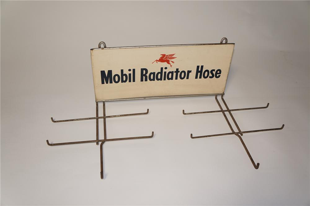 Hard to find 1950s Mobil Radiator Hose service department display rack with Pegasus graphic. - Front 3/4 - 125452