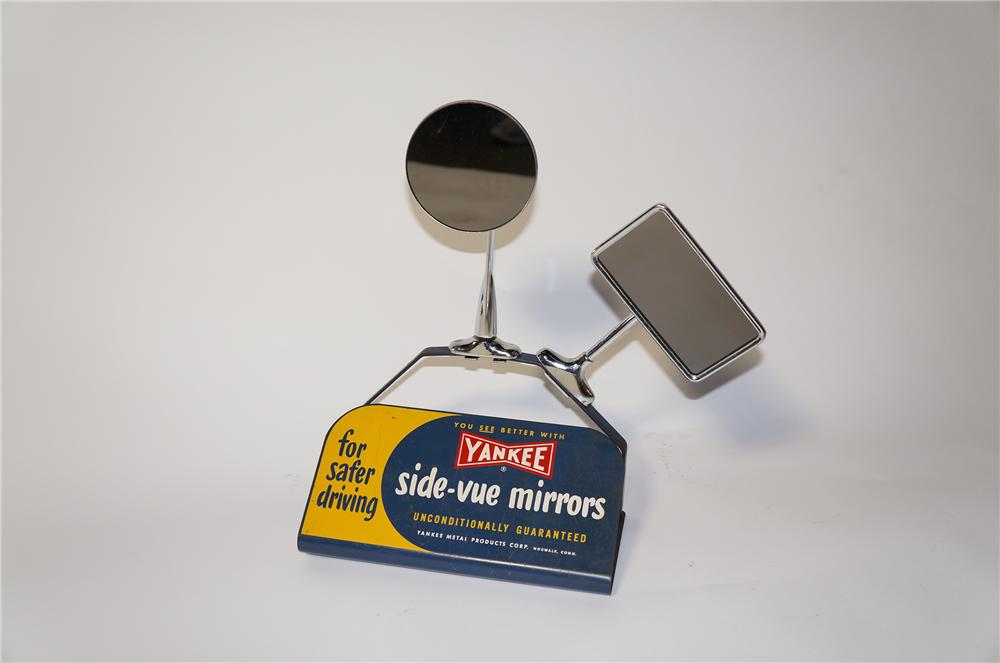 Amazing 1950s Yankee side-vue Mirrors for safer driving automotive garage counter-top display. - Front 3/4 - 125455