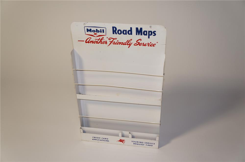 Scarce late 1950s Mobil Oil service station map rack with Pegasus logo. - Front 3/4 - 125464