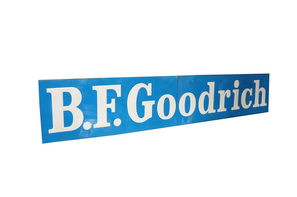 Large N.O.S. 1965 B.F. Goodrich Tires two-piece garage sign.  Found still in the original shipping crate. - Front 3/4 - 125472